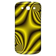 Yellow Fractal Samsung Galaxy S3 S Iii Classic Hardshell Back Case by Simbadda