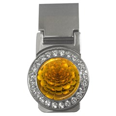 Yellow Flower Money Clips (cz)  by Simbadda