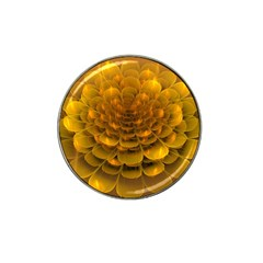 Yellow Flower Hat Clip Ball Marker (4 Pack) by Simbadda