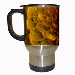 Yellow Flower Travel Mugs (white) by Simbadda