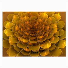 Yellow Flower Large Glasses Cloth (2 Side) by Simbadda