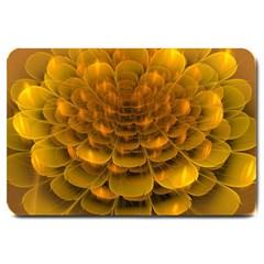 Yellow Flower Large Doormat  by Simbadda