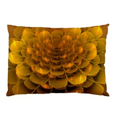 Yellow Flower Pillow Case (two Sides) by Simbadda
