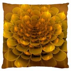 Yellow Flower Large Cushion Case (two Sides) by Simbadda