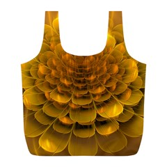 Yellow Flower Full Print Recycle Bags (l)  by Simbadda