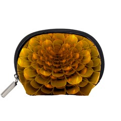 Yellow Flower Accessory Pouches (small)  by Simbadda