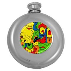 Mexico Round Hip Flask (5 Oz) by Valentinaart