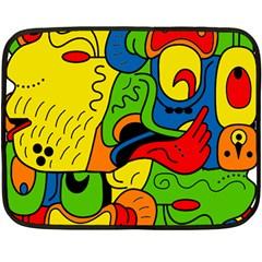 Mexico Double Sided Fleece Blanket (mini)  by Valentinaart