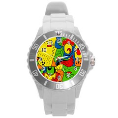 Mexico Round Plastic Sport Watch (l) by Valentinaart