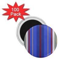 Colorful Stripes 1 75  Magnets (100 Pack)  by Simbadda