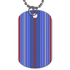 Colorful Stripes Dog Tag (two Sides) by Simbadda