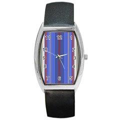 Colorful Stripes Barrel Style Metal Watch by Simbadda