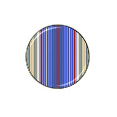 Colorful Stripes Hat Clip Ball Marker (4 Pack) by Simbadda