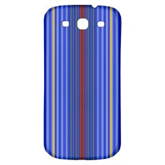 Colorful Stripes Samsung Galaxy S3 S Iii Classic Hardshell Back Case by Simbadda