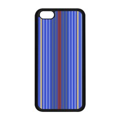 Colorful Stripes Apple Iphone 5c Seamless Case (black) by Simbadda