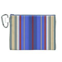 Colorful Stripes Canvas Cosmetic Bag (xl) by Simbadda