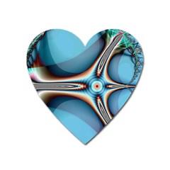 Fractal Beauty Heart Magnet by Simbadda