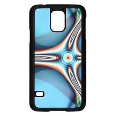 Fractal Beauty Samsung Galaxy S5 Case (black) by Simbadda