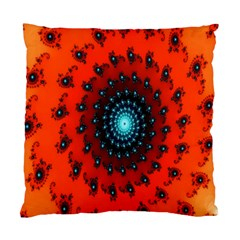 Red Fractal Spiral Standard Cushion Case (two Sides) by Simbadda