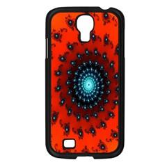 Red Fractal Spiral Samsung Galaxy S4 I9500/ I9505 Case (black) by Simbadda