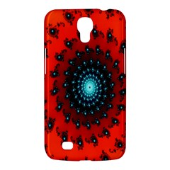Red Fractal Spiral Samsung Galaxy Mega 6 3  I9200 Hardshell Case by Simbadda