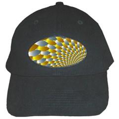 Fractal Spiral Black Cap by Simbadda