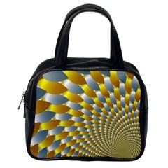 Fractal Spiral Classic Handbags (one Side) by Simbadda
