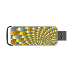 Fractal Spiral Portable Usb Flash (two Sides) by Simbadda