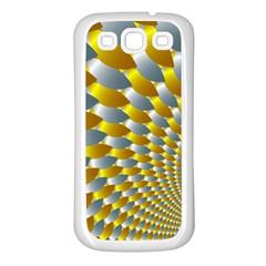 Fractal Spiral Samsung Galaxy S3 Back Case (white) by Simbadda