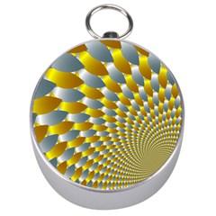 Fractal Spiral Silver Compasses by Simbadda