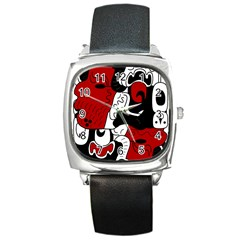Mexico Square Metal Watch by Valentinaart