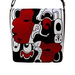 Mexico Flap Messenger Bag (l)  by Valentinaart