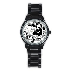 Mexico Stainless Steel Round Watch by Valentinaart