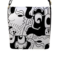 Mexico Flap Messenger Bag (l)  by Valentinaart