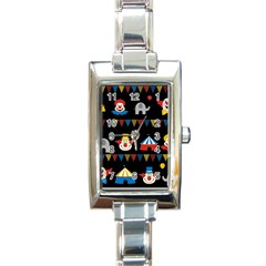 Circus  Rectangle Italian Charm Watch by Valentinaart