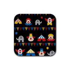 Circus  Rubber Coaster (square)  by Valentinaart