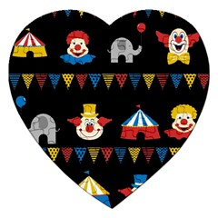 Circus  Jigsaw Puzzle (heart) by Valentinaart