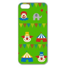 Circus Apple Seamless Iphone 5 Case (clear) by Valentinaart