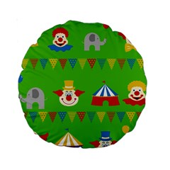 Circus Standard 15  Premium Round Cushions by Valentinaart