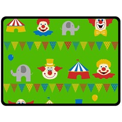 Circus Double Sided Fleece Blanket (large)  by Valentinaart
