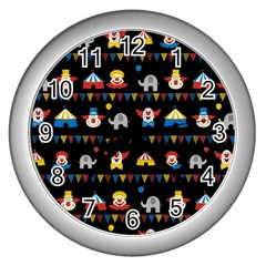 Circus Wall Clocks (silver)  by Valentinaart