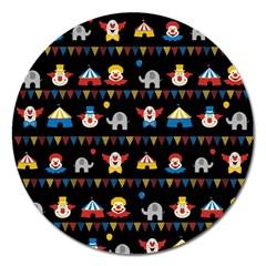 Circus Magnet 5  (round) by Valentinaart