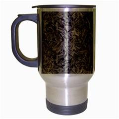 Silver Tropical Print Travel Mug (silver Gray) by dflcprints