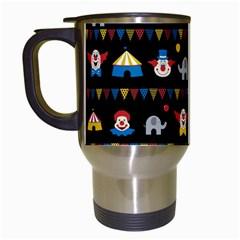 Circus Travel Mugs (white) by Valentinaart