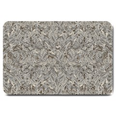 Silver Tropical Print Large Doormat  by dflcprints