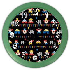 Circus Color Wall Clocks by Valentinaart