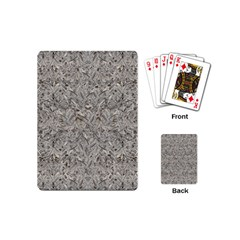 Silver Tropical Print Playing Cards (mini)  by dflcprints