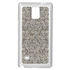 Silver Tropical Print Samsung Galaxy Note 4 Case (white) by dflcprints