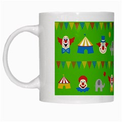 Circus White Mugs by Valentinaart