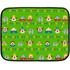Circus Fleece Blanket (mini) by Valentinaart